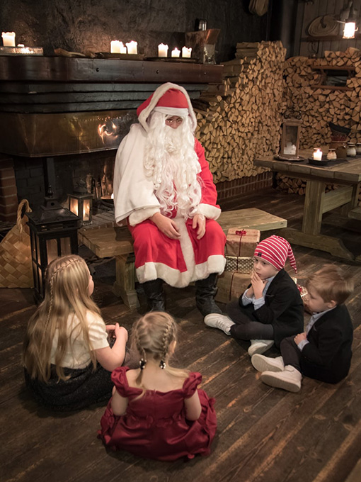 Joulupukki Ravintola Liiterissä